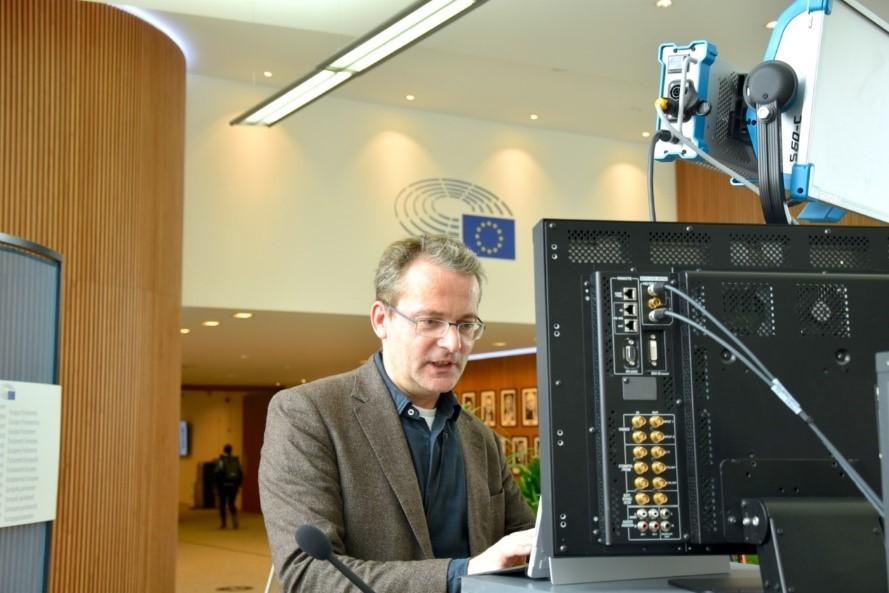 Axel Heyer, Koordinator im Besucherdienst des Europäischen Parlaments