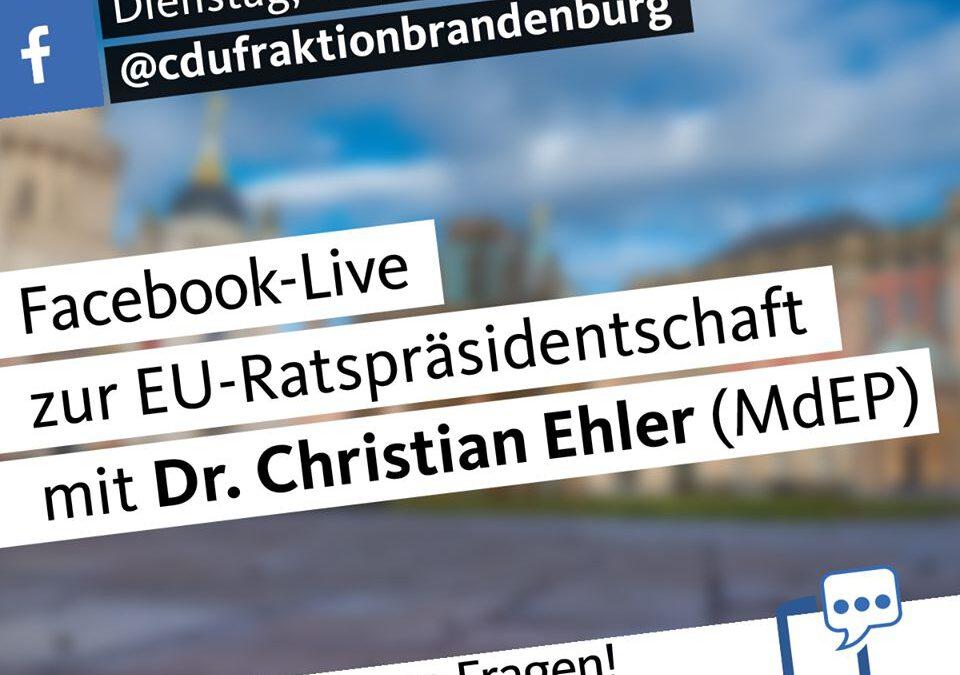 Heute 17.45 Uhr live: Fragen und Antworten rund um die Deutsche Ratspräsidentschaft