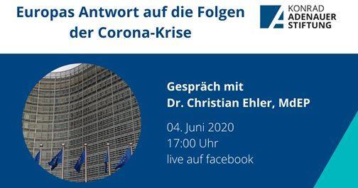 Donnerstag, 6. Juni um 17.00 Uhr im Facebook-Livestream: Europa und der Wiederaufbauplan