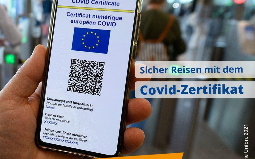 Das Europäische COVID-Zertifikat tritt in Kraft