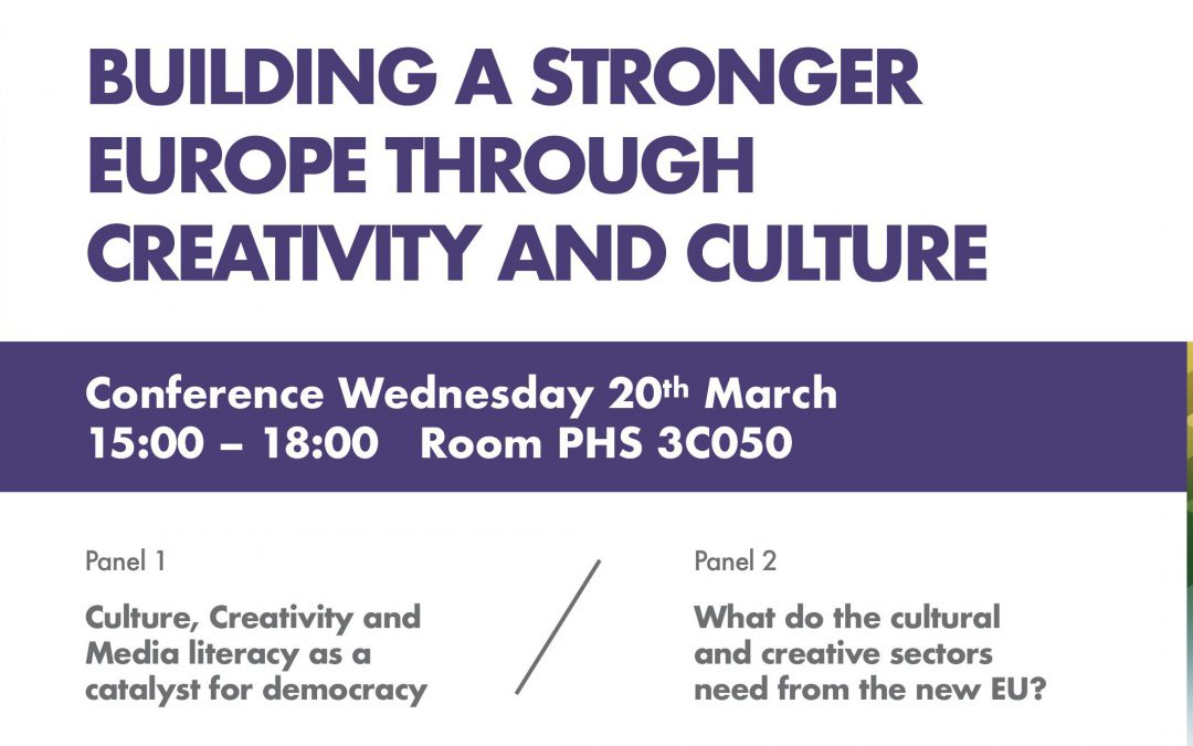 Conference: Building a stronger Europe through Creativity and Culture