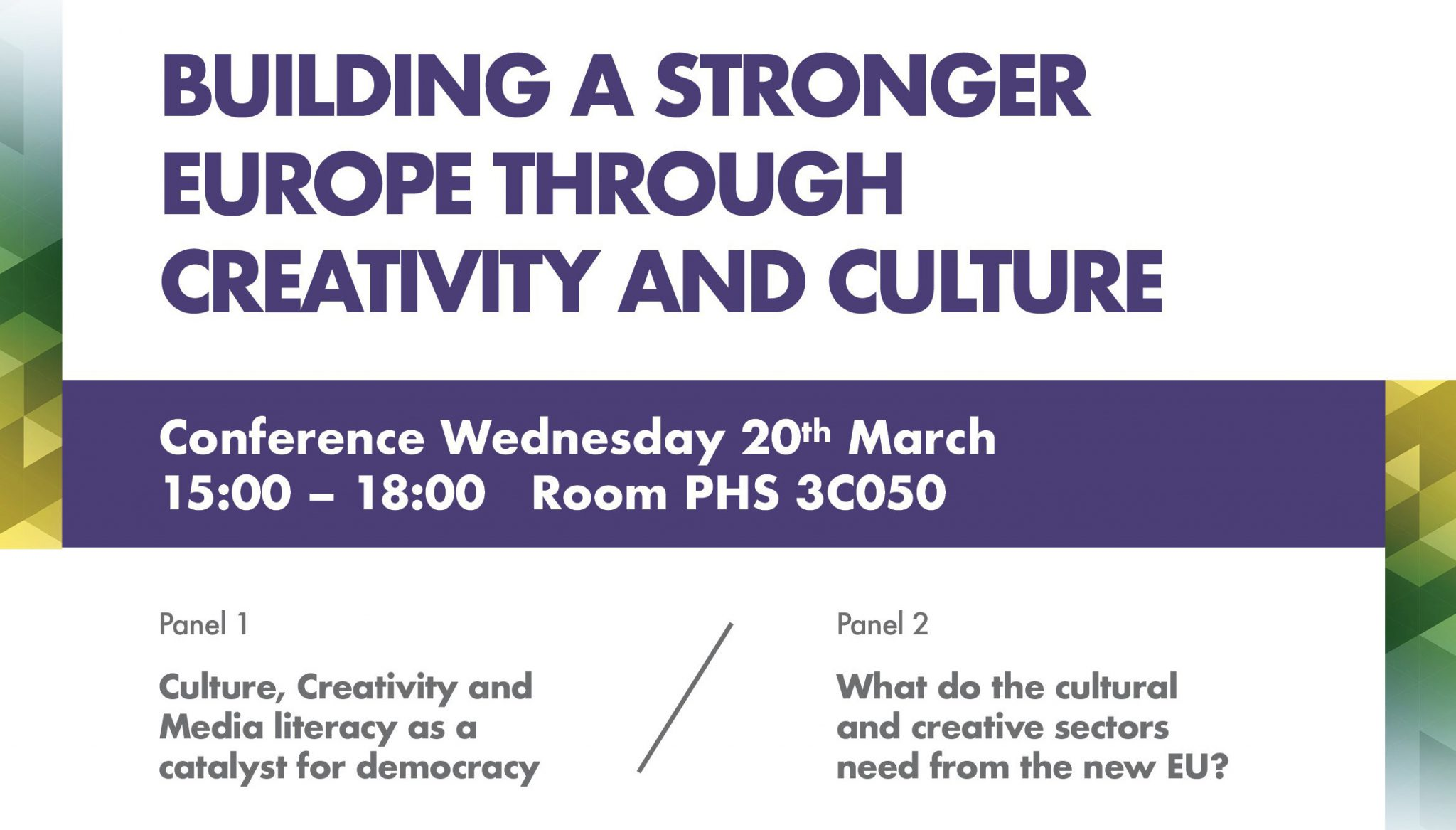 Conference: Building a stronger Europe through Creativity