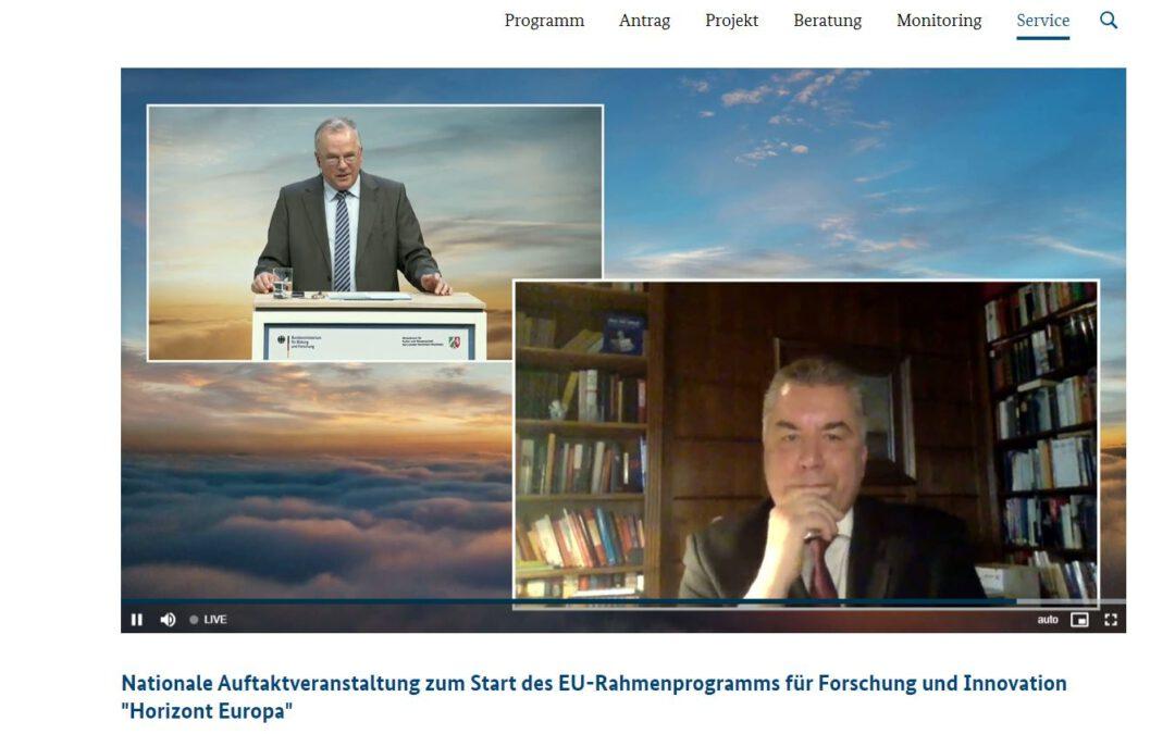 """Dr. Christian Ehler MdEP: """"Horizont Europa ist das beste Forschungsprogramm, das wir je hatten. Aber ist es auch genug?"""""""