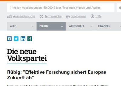 """Rübig: """"Effektive Forschung sichert Europas Zukunft ab"""""""
