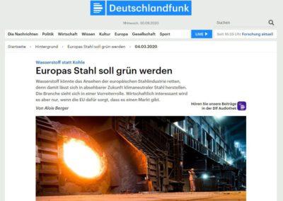 Europas Stahl soll grün werden