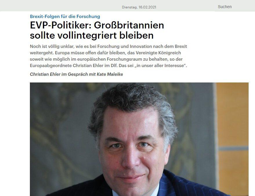 EVP-Politiker: Großbritannien sollte vollintegriert bleiben