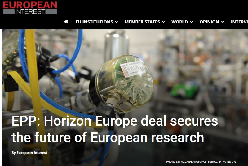 EPP: Horizon Europe deal secures the future of European research