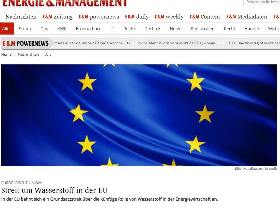 Streit um Wasserstoff in der EU