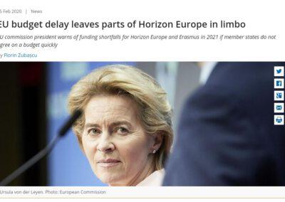 EU budget delay leaves parts of Horizon Europe in limbo