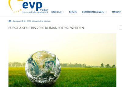 EUROPA SOLL BIS 2050 KLIMANEUTRAL WERDEN