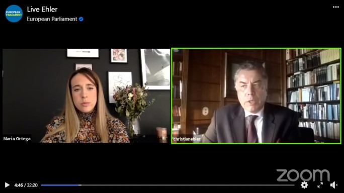 European Parliament's Facebook Live-Video Interview with Dr. Christian Ehler, MEP on Research Funding to Tackle Covid19