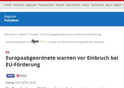 Europaabgeordnete warnen vor Einbruch bei EU-Förderung