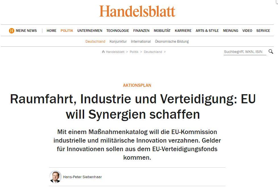 Raumfahrt, Industrie und Verteidigung: EU will Synergien schaffen