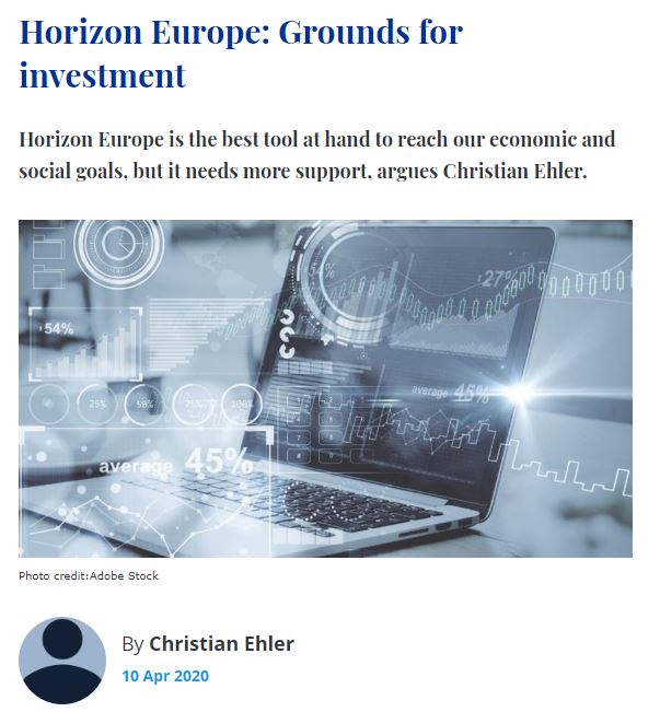 Horizon Europe: Grounds for investment