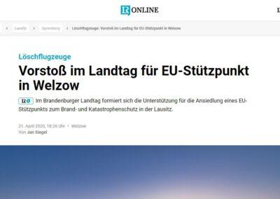 Vorstoß im Landtag für EU-Stützpunkt in Welzow