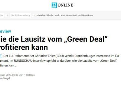 """Wie die Lausitz vom """"Green Deal"""" profitieren kann"""