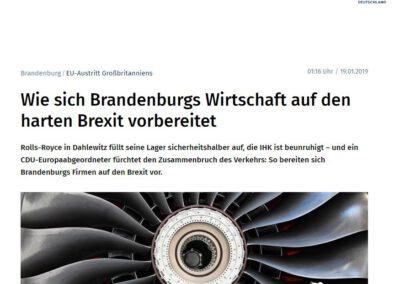 Wie sich Brandenburgs Wirtschaft auf den harten Brexit vorbereitet