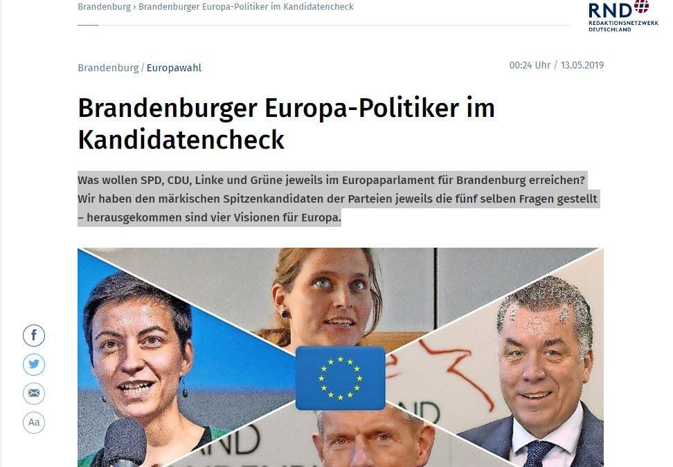 Brandenburger Europa-Politiker im Kandidatencheck