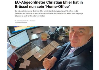 "EU-Abgeordneter Christian Ehler hat in Brüssel nun sein ""Home-Office"""