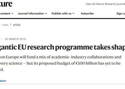 Gigantic EU research programme takes shape