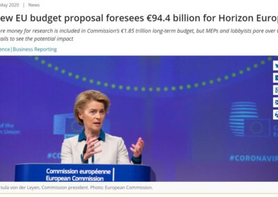New EU budget proposal foresees €94.4 billion for Horizon Europe