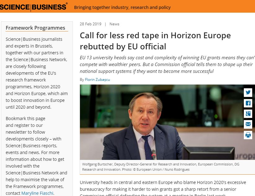 Call for less red tape in Horizon Europe rebutted by EU official