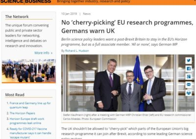 No 'cherry-picking' EU research programmes, Germans warn UK