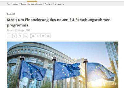 Streit um Finanzierung des neuen EU-Forschungsrahmenprogramms