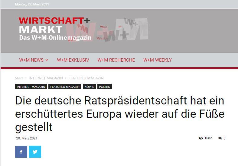 Die deutsche Ratspräsidentschaft hat ein erschüttertes Europa wieder auf die Füße gestellt
